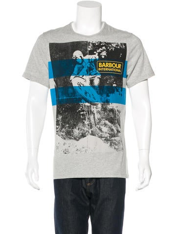 Barbour Motorcycle Graphic T-Shirt w/ Tags None