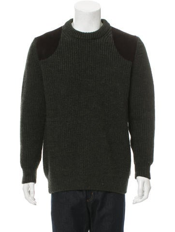 Barbour Shetland Wool Suede-Trimmed Sweater None