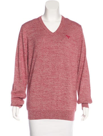 Barbour Mélange V-Neck Sweater w/ Tags None