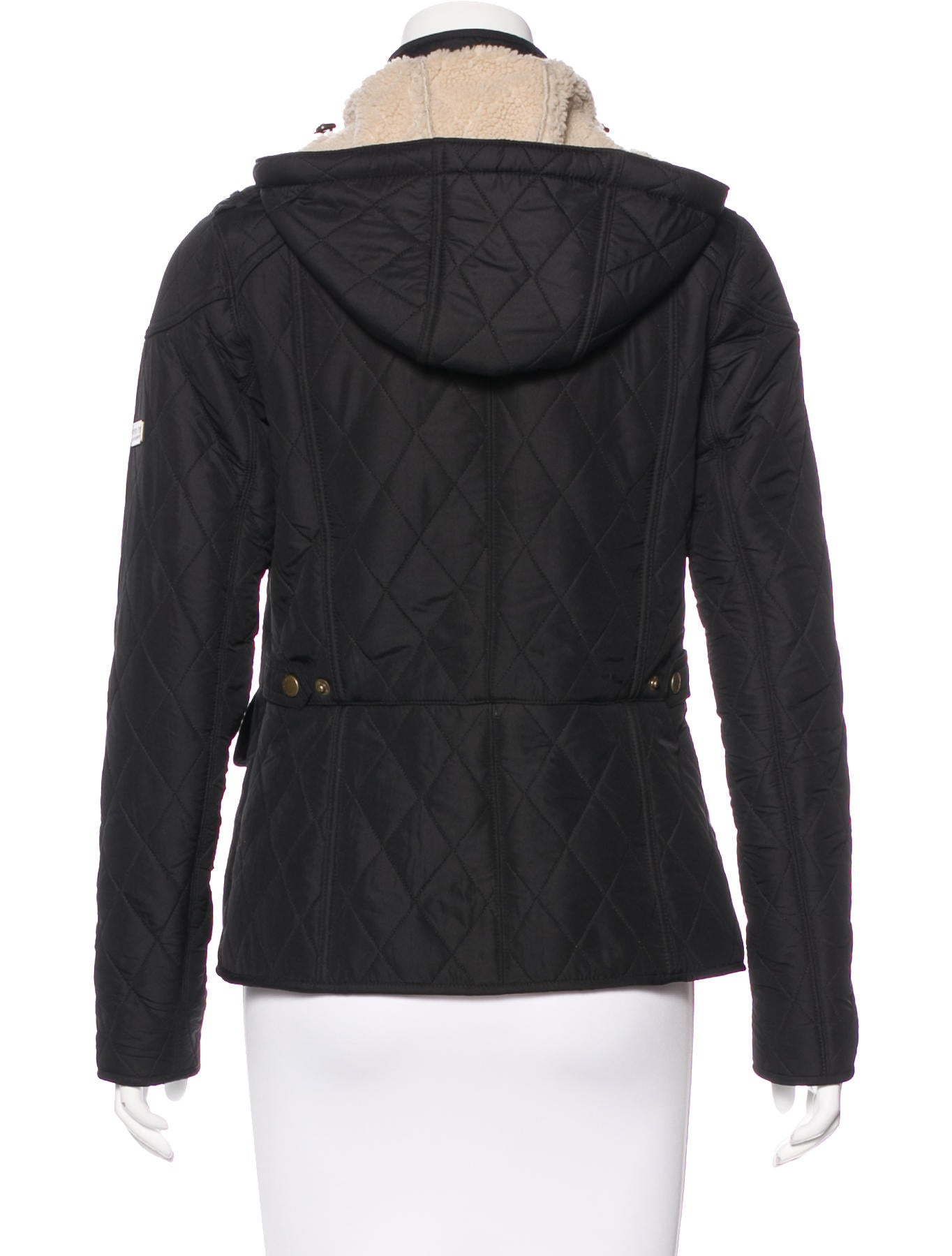 Hooded barbour jacket womens