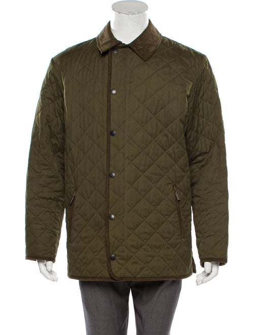 Barbour Quilted Collared Jacket olive