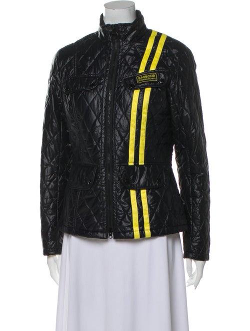 Barbour Quilted Zip-Up Jacket yellow
