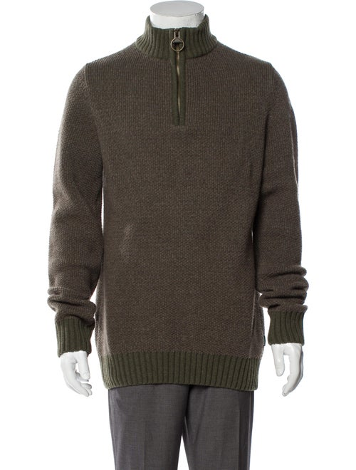 Barbour Wool Mock Neck Pullover Wool