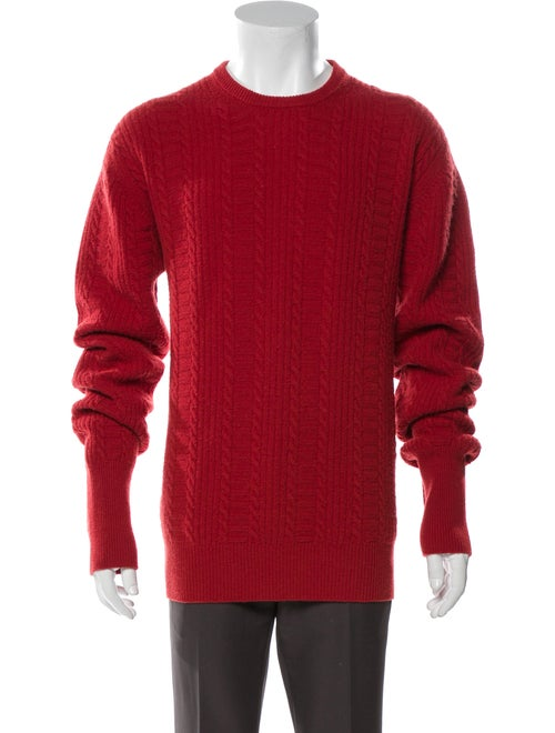 Barbour Cashmere Crew Neck Pullover Red