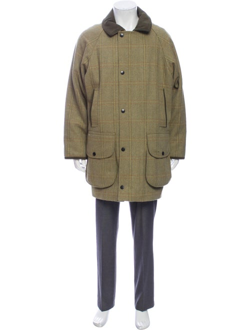 Barbour Plaid Print Jacket Green
