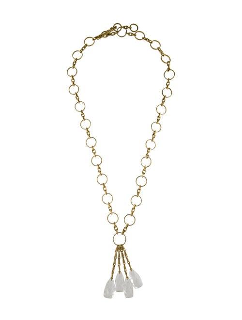 Vaubel Quartz Lavalier Necklace Gold