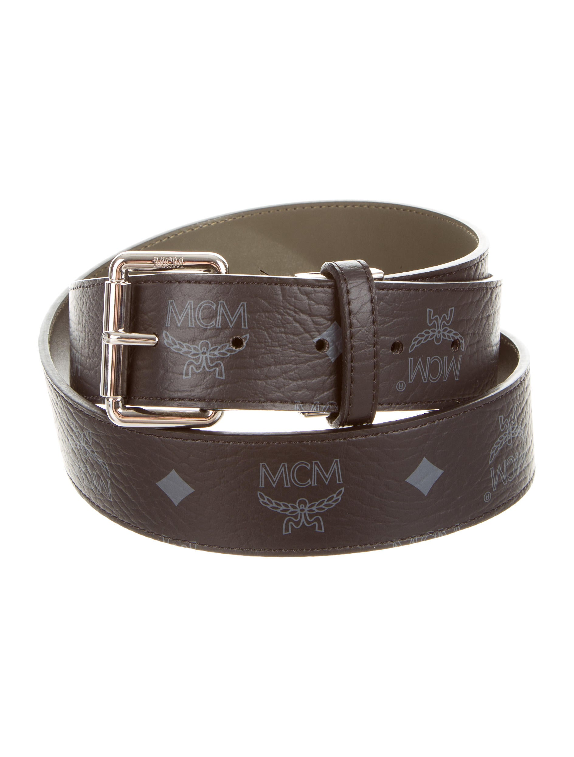 mcm leather logo belt accessories w3020264 the realreal