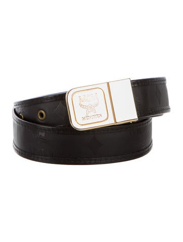 MCM Visetos Logo Belt None