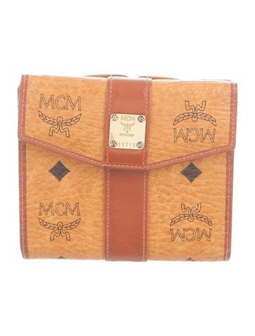 MCM Visetos Compact Wallet None