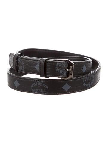 MCM Visetos Leather Belt None