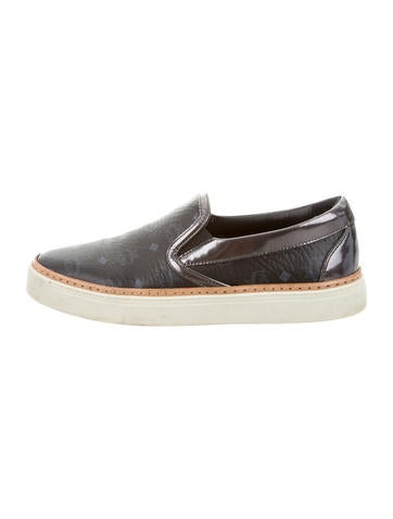MCM Visetos Slip-On Sneakers None