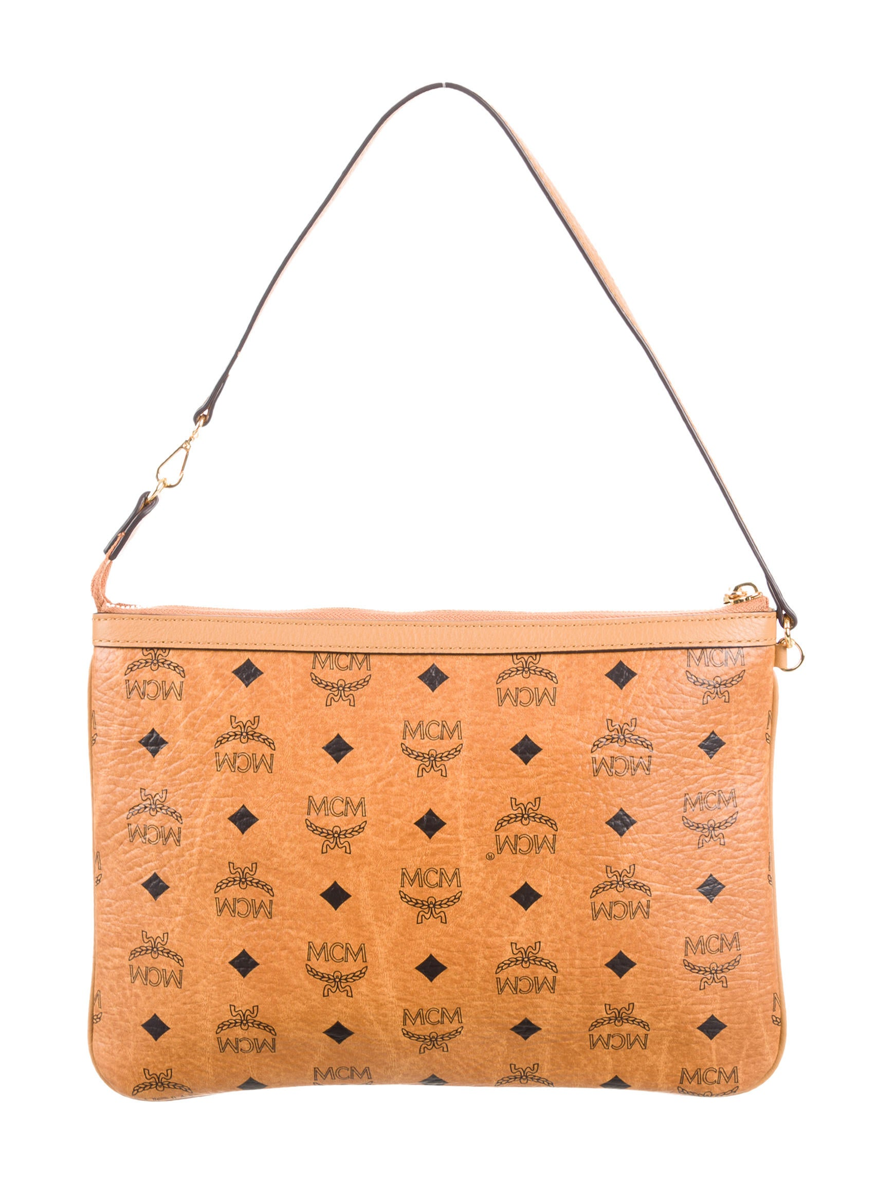 mcm visetos shoulder bag handbags w3021103 the realreal. Black Bedroom Furniture Sets. Home Design Ideas