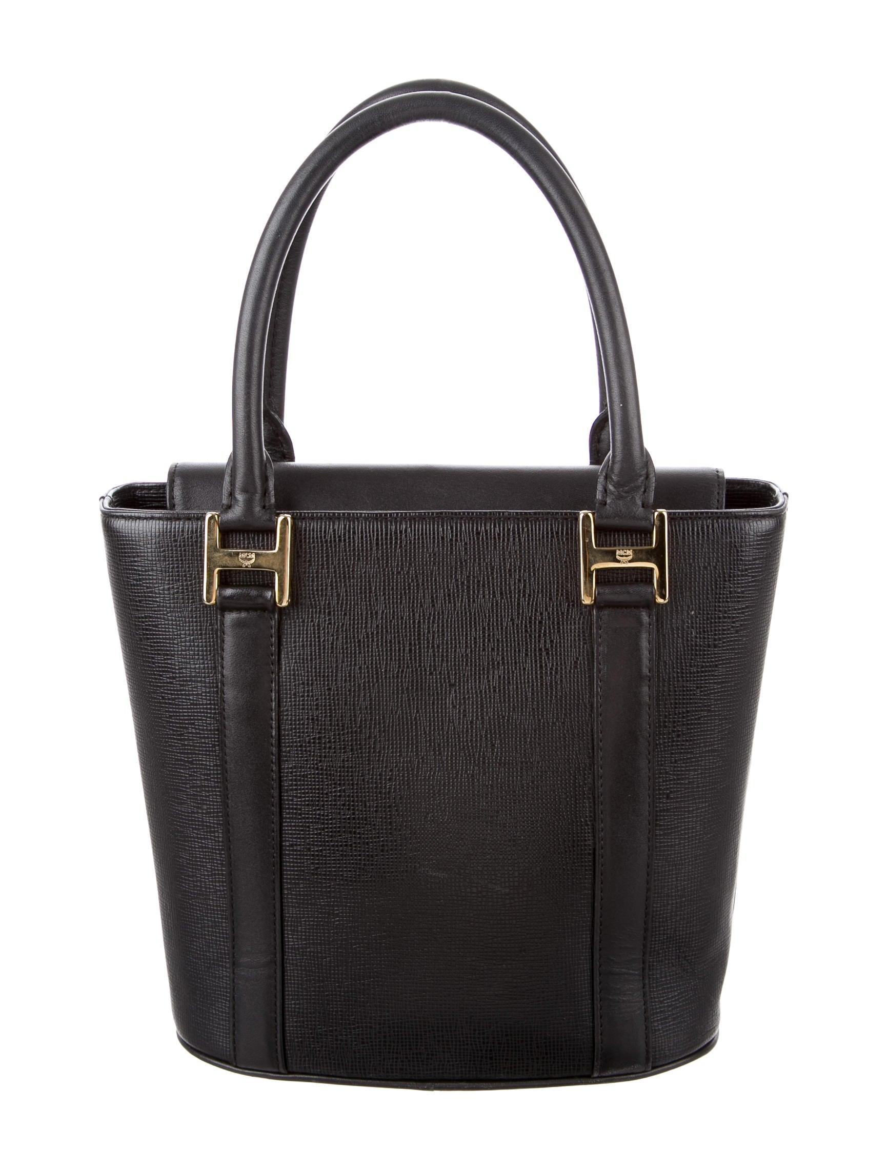 Mcm Leather Handle Bag Handbags W3021192 The Realreal