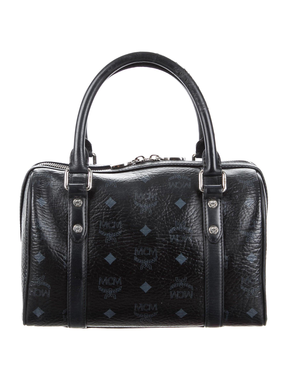 Boston Bag Patchwork Tutorial: MCM Visetos Boston Bag - Handbags - W3021205