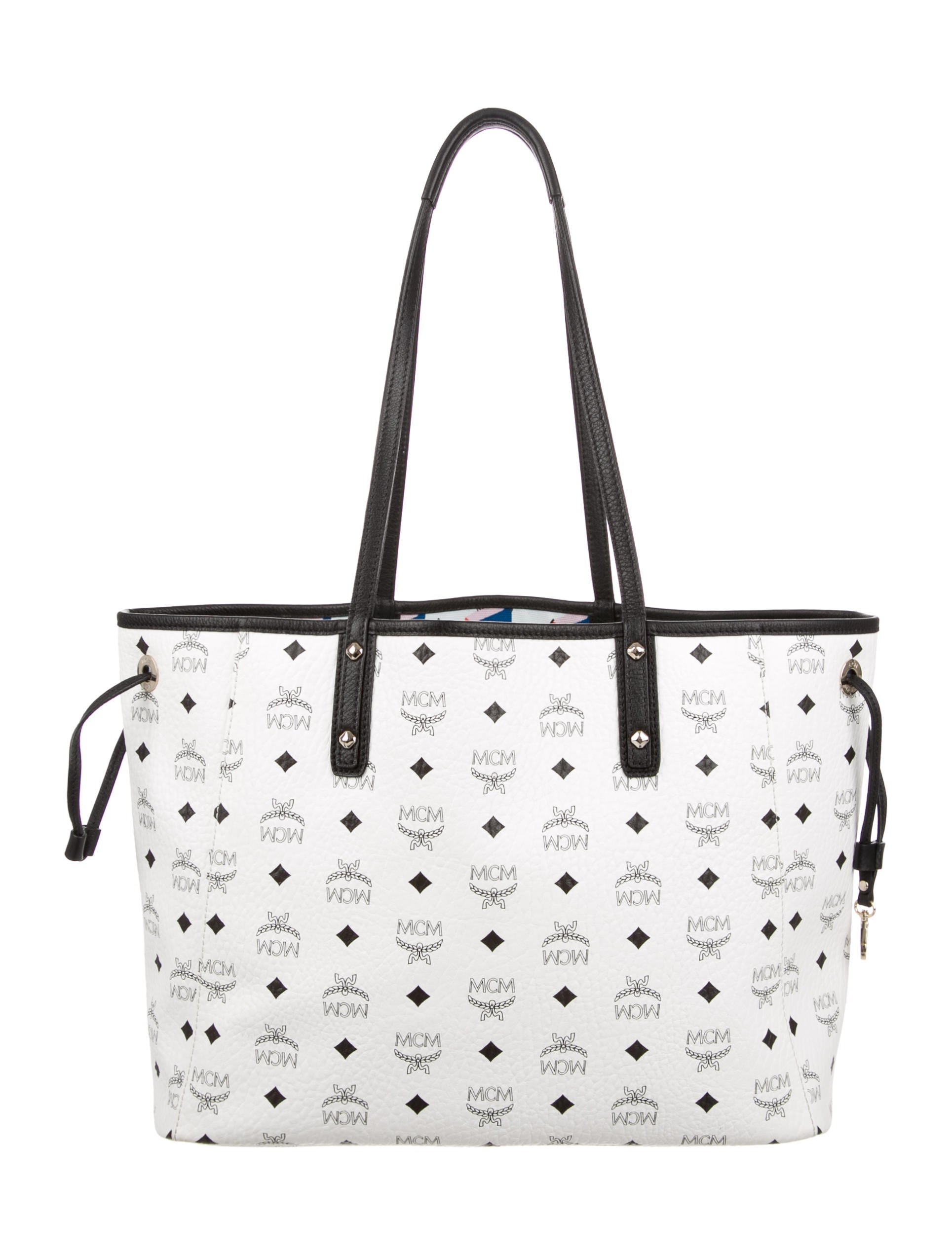 mcm large visetos reversible liz shopper tote handbags w3021234 the realreal. Black Bedroom Furniture Sets. Home Design Ideas