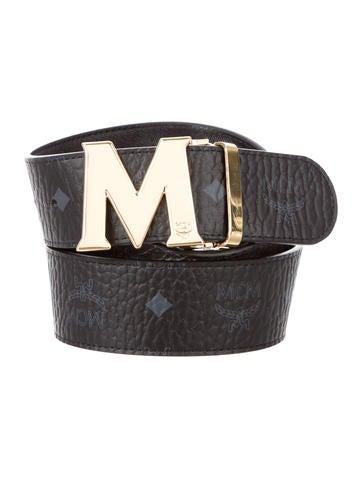 mcm visetos leather belt w tags accessories w3021356