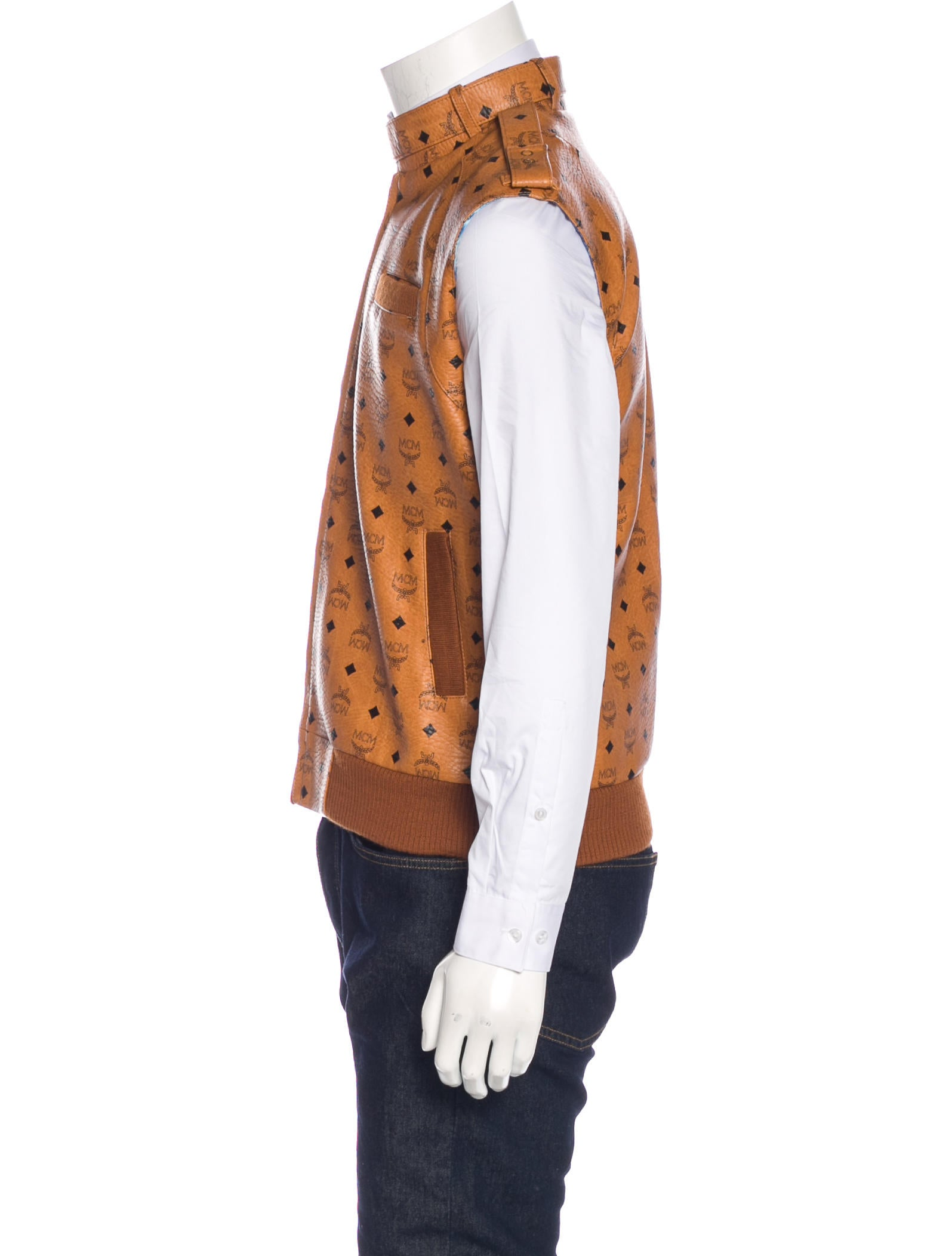 mcm visetos vest clothing w3021419 the realreal