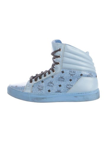 MCM Visetos High-Top Sneakers None