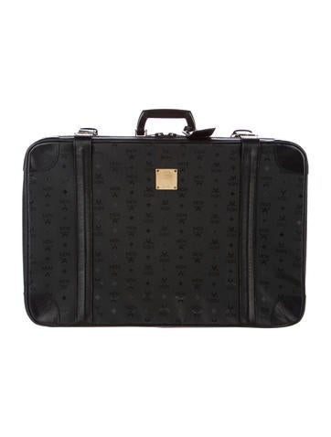 MCM Visetos Leather-Trimmed Suitcase None