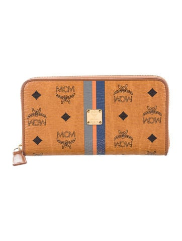 MCM Visetos Zip Wallet None