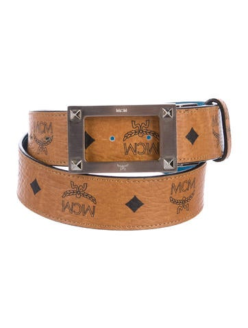MCM Reversible Visetos Belt None