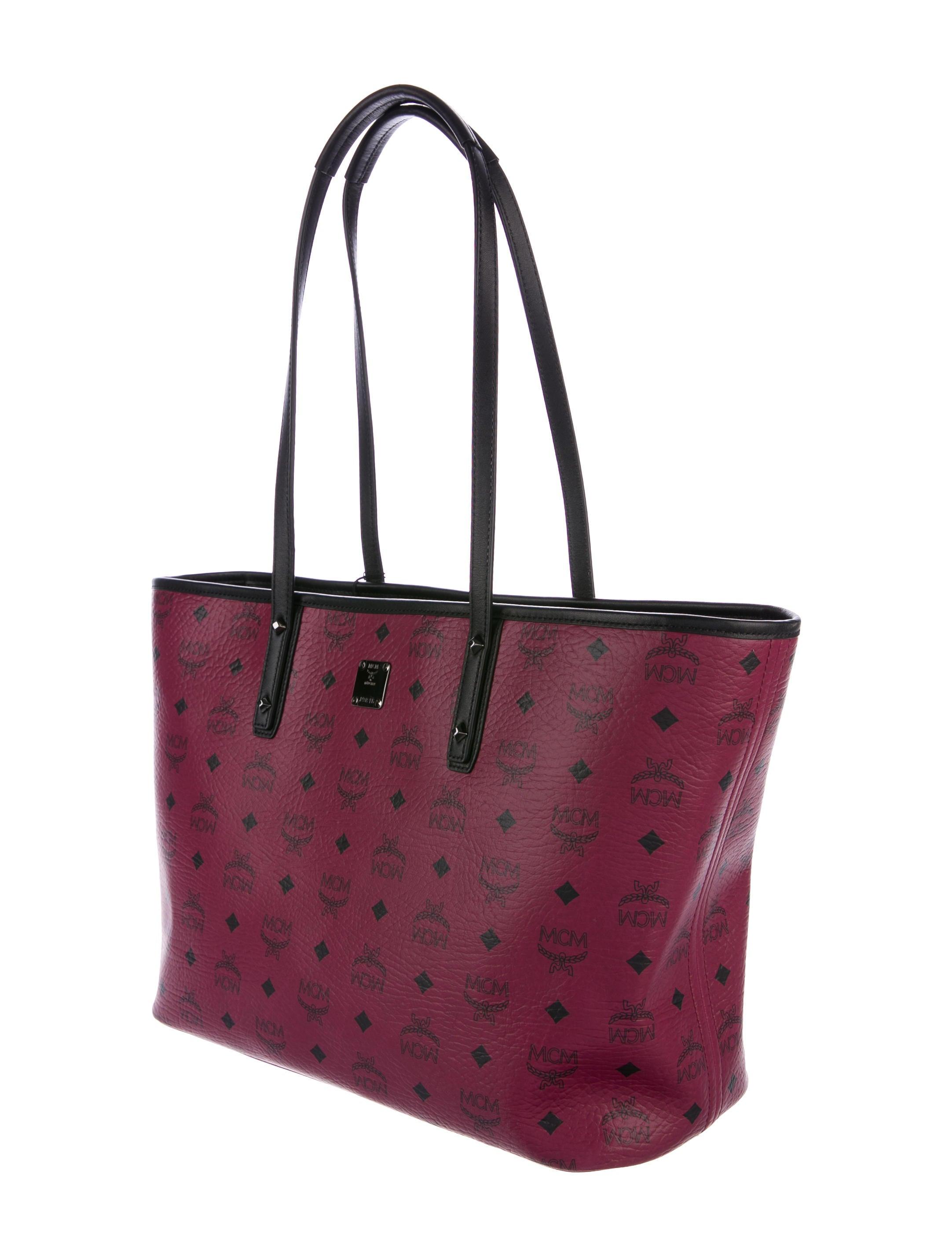 mcm medium visetos shopper tote w tags handbags. Black Bedroom Furniture Sets. Home Design Ideas