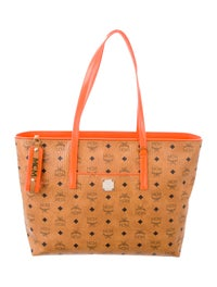 Monogram Leather Shopper Tote w/ Tags image 1