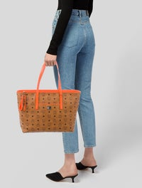 Monogram Leather Shopper Tote w/ Tags image 2