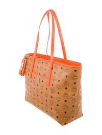 Monogram Leather Shopper Tote w/ Tags image 3