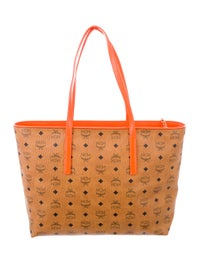 Monogram Leather Shopper Tote w/ Tags image 4