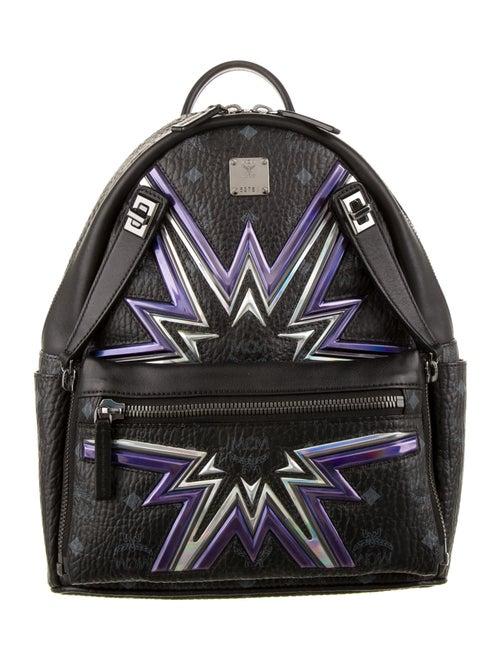 MCM Stark Cyber Flash Medium Visetos Backpack Blac
