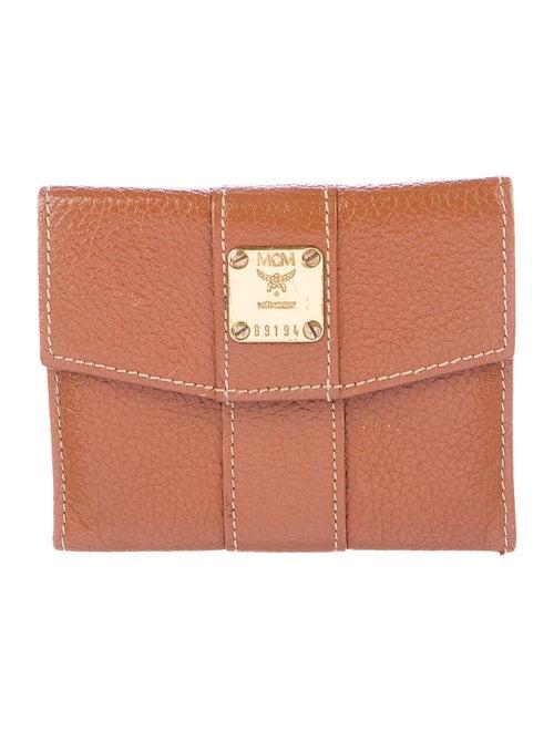 MCM Vintage Compact Wallet brown