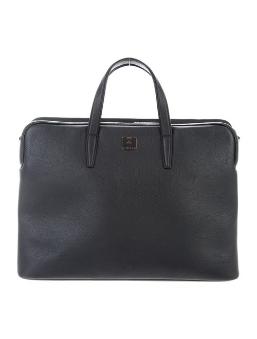 MCM Saffiano Leather Laptop Bag Black