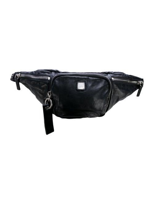 MCM Leather Waist Bag Black