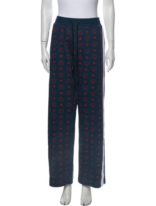 MCM Printed Pants Blue