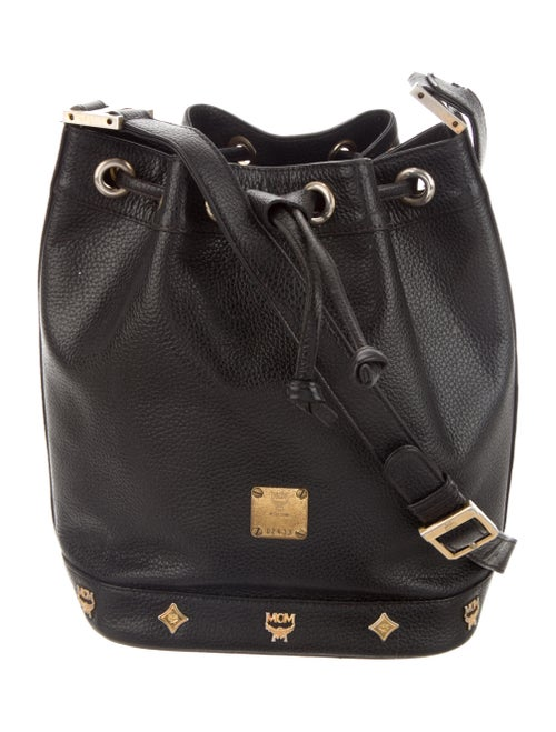 MCM Vintage Leather Bucket Bag Black