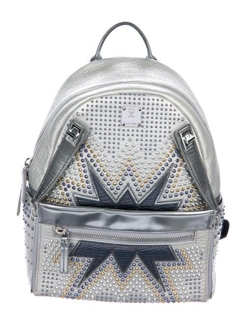 MCM Metallic Studded Backpack Metallic