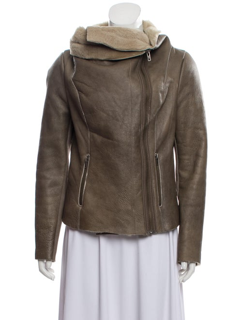 Muubaa Shearling Cropped Jacket
