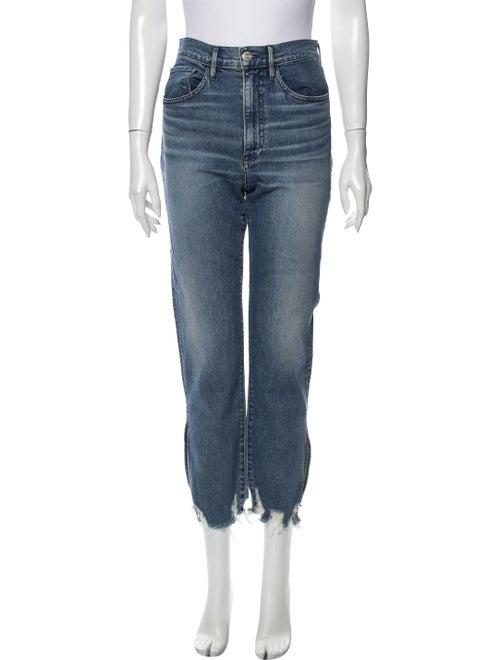 3x1 NYC High-Rise Straight Leg Jeans Blue