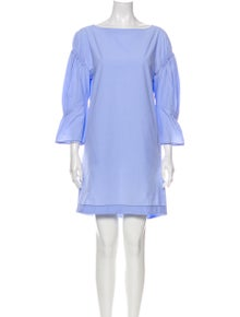 3.1 Phillip Lim Bateau Neckline Mini Dress