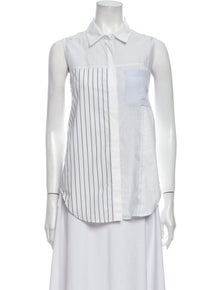 3.1 Phillip Lim Striped Sleeveless Button-Up Top