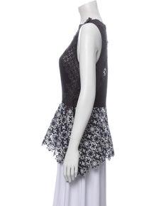 3.1 Phillip Lim Silk Lace Pattern Blouse
