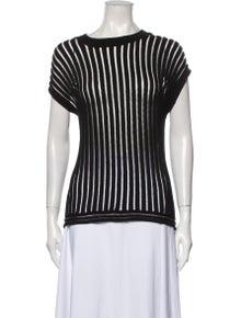 3.1 Phillip Lim Striped Crew Neck Sweater