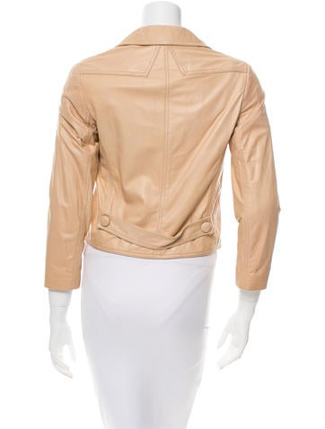 Nude Leather Jacket w/ Tags