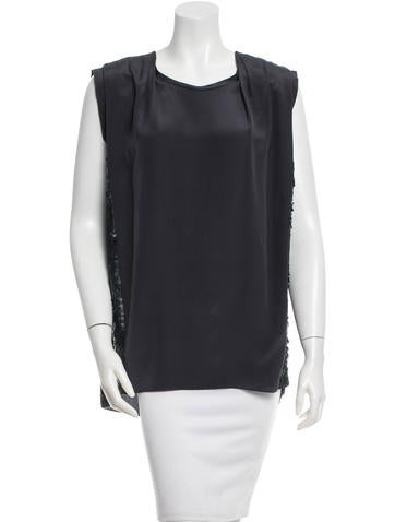 3.1 Phillip Lim Silk Sequined Top None