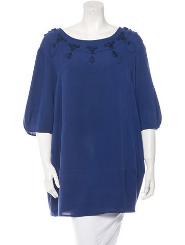 3.1 Phillip Lim Silk Three-Quarter Sleeve Dress