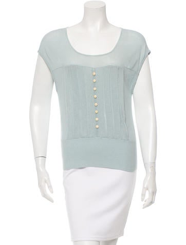 3.1 Phillip Lim Knit Semi-Sheer Top None