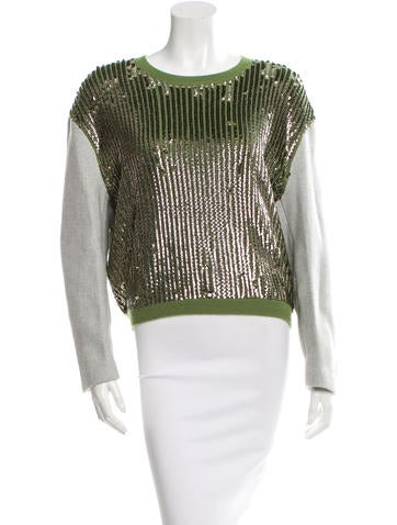 3.1 Phillip Lim Sequined Wool Sweater w/ Tags None