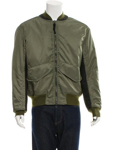 3.1 Phillip Lim Rib Knit-Trimmed Bomber Jacket None