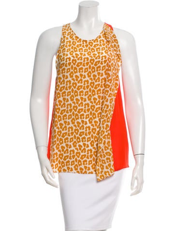 3.1 Phillip Lim Leopard Print Silk Top None